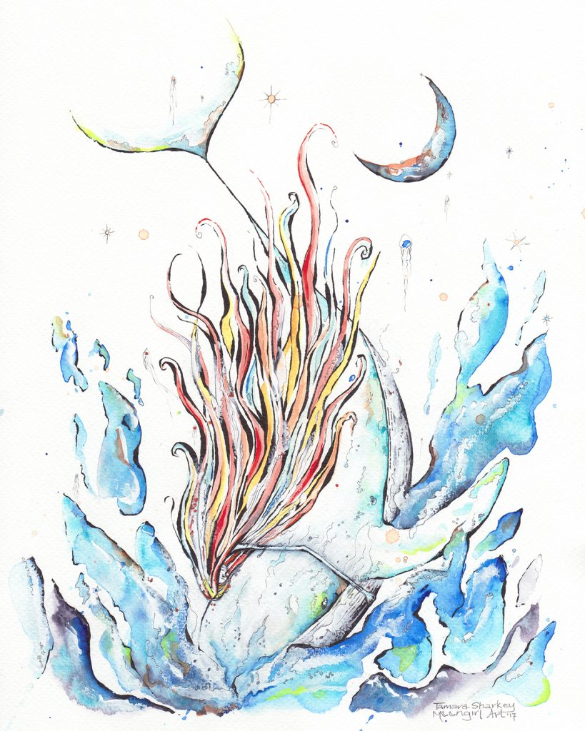 Flow original watercolour